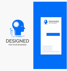 business logo for mind creative thinking idea vector image