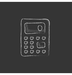 Calculator Drawn in chalk icon vector