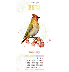 calendar for 2015 January vector image