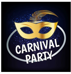 carnival party design with typography and vector image
