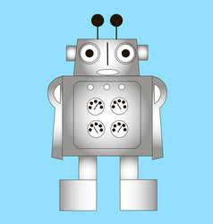 Cartoon robot in the form of a man vector