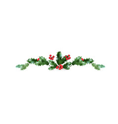 Christmas holiday decor border vector