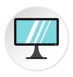 Computer monitor icon flat style vector image