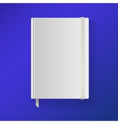 Copybook with elastic band and bookmark vector image