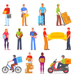 courier postman character of delivery vector image
