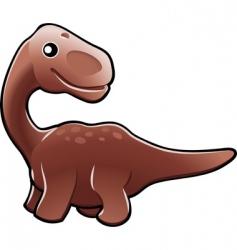 Cute diplodocus dinosaur vector