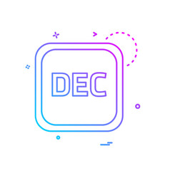 december calender icon design vector image