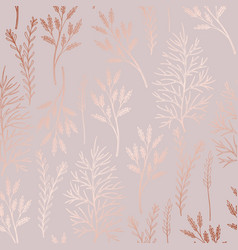 delicate pattern with herbs with imitation of vector image