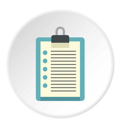 Document plan icon circle vector