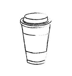 Figure tasty coffee drink beverage vector