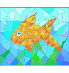 Fish vitrage vector image