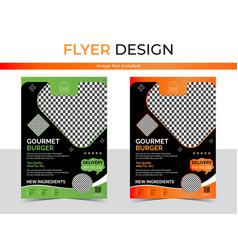 Food delivery flyer design images vector