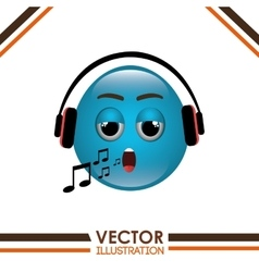 funny emoticon design vector image
