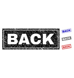 grunge back scratched rectangle watermarks vector image