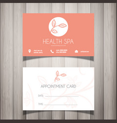 health spa or beautician business card vector image