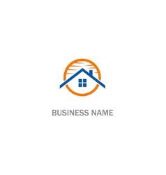 home rorealty company logo vector image