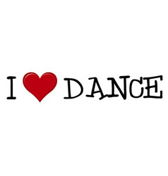 i love dance icon on white background vector image