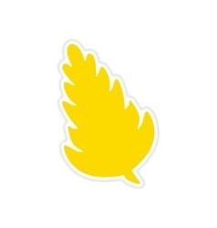 Icon sticker realistic design on paper spices vector