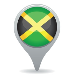 jamaican flag pointer vector image vector image