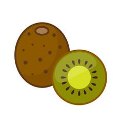 kiwi whole fruit and half vector image