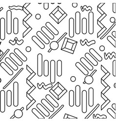 Line graphic memphis style abtract figures vector