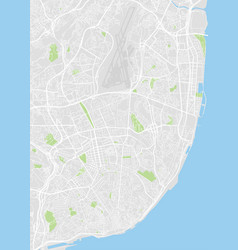 Lisbon colored map vector