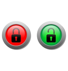 lock buttons vector image
