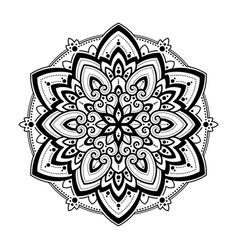 mandala ethnic motifs vector image