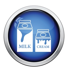 Milk and cream container icon vector image vector image