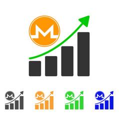 monero growth graph icon vector image