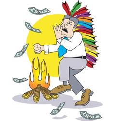 Money burn vector image