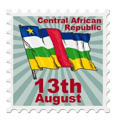 National day of Central African Republic vector