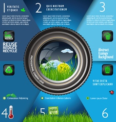 Nature in focus infographic vector