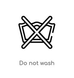 Outline do not wash icon isolated black simple vector