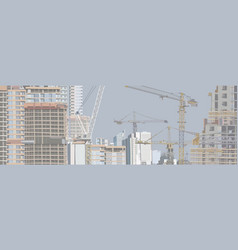 panorama a city under construction vector image