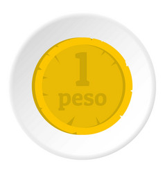Peso icon circle vector