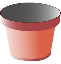 Pot with gradient mesh vector