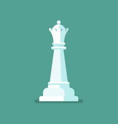 queen chess figure icon vector image