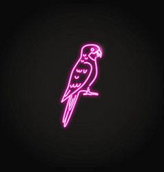rosella parrot icon in glowing neon style vector image