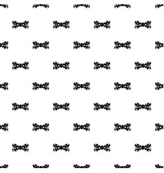 round circle bow tie pattern seamless vector image