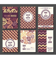 Set of card templates invitation vector image