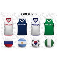 Set soccer jersey or football kit template vector
