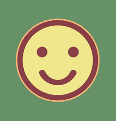 Smile icon cordovan icon and mellow vector