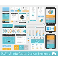 UI Flat Design Elements for Web and Infographics vector image