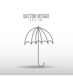 umbrella drawn icon design vector image