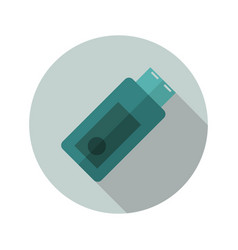 usb pen icon vector image