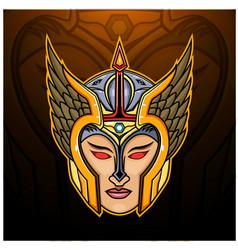 Valkyrie head esport mascot logo design vector