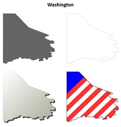 Washington Map Icon Set vector