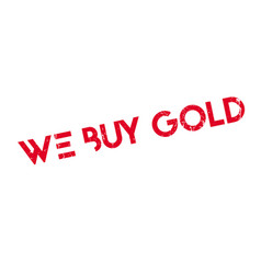 We buy gold rubber stamp vector