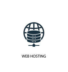web hosting icon simple element web vector image